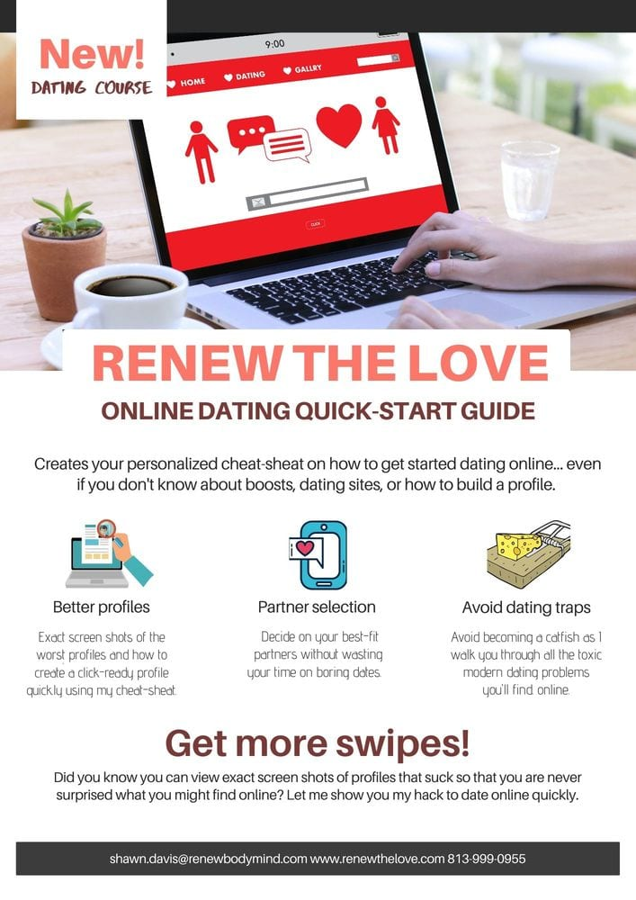 online dating course flyer